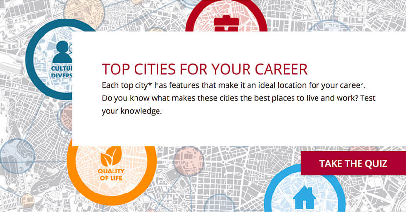 Quiz: Top cities for your career Thumbnail